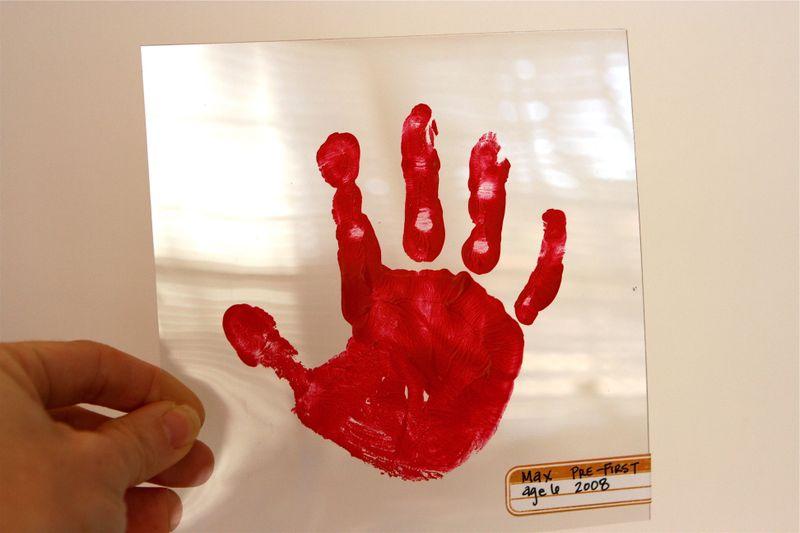 Max's handprint