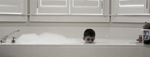 Max in tub
