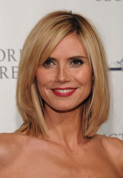 heidi klum bob with bangs. pictures of heidi klum